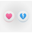 heart icons like and dislike vector image vector image