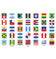 icons with flags of Americas vector image vector image