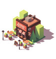 isometric pizzeria building vector image