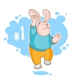 Jumping rabbit is the winner vector image