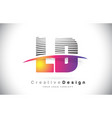 ld l d letter logo design with creative lines and vector image vector image