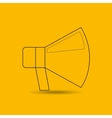 megaphone isolated design vector image