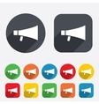 Megaphone soon icon Loudspeaker symbol vector image vector image