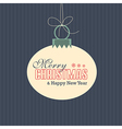 Merry Christmas Card label vector image vector image