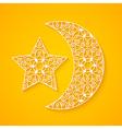 Openwork Moon and Star vector image