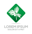 palm tree green natural symbol vector image