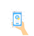 parking pay with mobile app vector image vector image