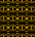 Pattern floral seamless on black background vector image vector image