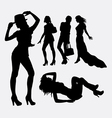 People female lifestyle silhouette vector image vector image
