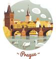 Prague Charles Bridge vector image vector image