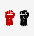 raised clenched fist graphic symbol vector image