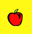 red apple grunge icon vector image