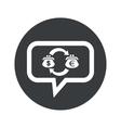 Round dollar euro dialog icon vector image vector image