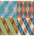 Seamless tartan pattern set Diagonal Cool vector image vector image