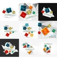 Set of fresh business abstract infographic vector image vector image