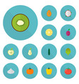 set of icons flat style symbols with appl vector image