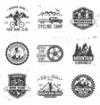 set of mountain bikings clubs vector image vector image
