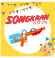 songkran festival water gun flags sand pagoda back vector image vector image