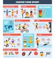 Sports Infographics Set vector image vector image