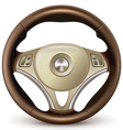 Steering wheel detailed realistic vector image vector image