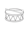 Toy drum vector image