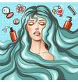 vintage pop art beauty salon poster vector image vector image