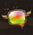 vintage tv screen vector image