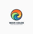 wave color sport concept design template vector image