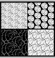 white and black roses background vector image vector image
