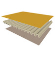 three dimensional of the parts a corrugated vector image