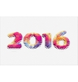 abstract 3d year 2016 vector image