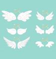angel wings cartoon set vector image vector image