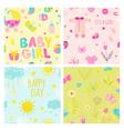 Baby Girl Seamless Background Set