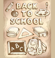 back to school topic 4 vector image vector image