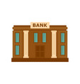 bank icon flat style vector image vector image