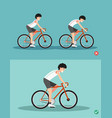 best and worst positions for riding bike vector image vector image