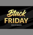 black friday sale logo background elegant banner vector image