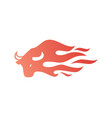 bull fire logo icon for branding car wrap decal vector image