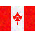 Canada flag on a triangle dark style vector image vector image