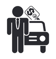 car sale icon vector image vector image