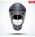 Classic Black Goalkeeper Hockey field Helmet vector image vector image