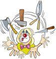 clown juggler vector image vector image