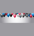 colorful balloons decoration over template vector image vector image