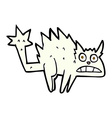 comic cartoon frightened cat vector image vector image