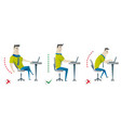 correct and incorrect back sitting position good vector image vector image