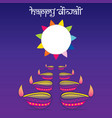 creative happy diwali festival poster design vector image