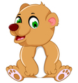 cute bear cartoon sitting vector image vector image