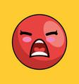 cute face kawaii style vector image