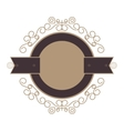 decorative vintage frame icon vector image vector image