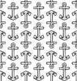doodle anchor pattern seamless vector image vector image